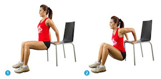 Triceps chair Dips