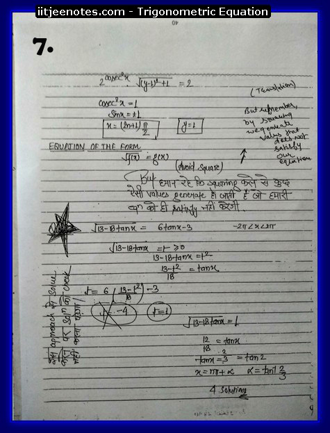 Trigonometric Equation Notes7