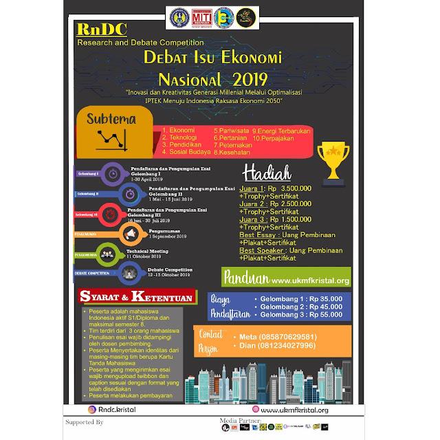 Kompetisi Debat Mahasiswa Nasional RnDC 2019