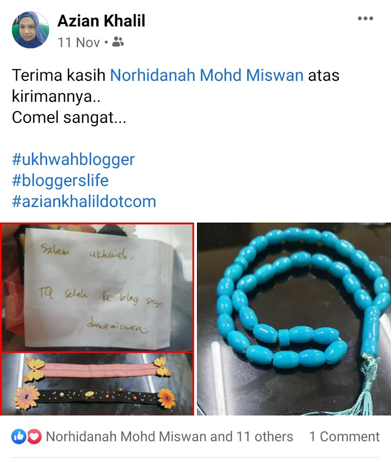Hadiah dari Blogger Dana