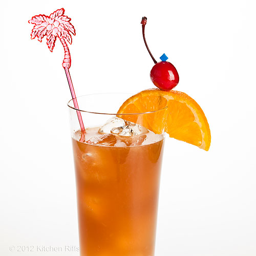 Bermuda Rum Swizzle Cocktail