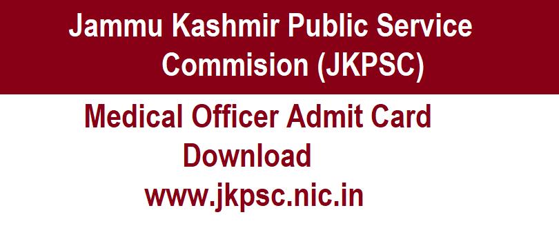 JKPSC MO Admit Card 2021, jkpsc medical officer admit card 2020