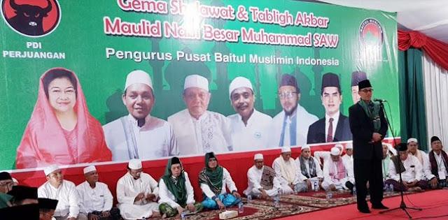 Bamusi: Rayakan Maulid Nabi, Bukti Nyata PDIP Tak Anti Islam