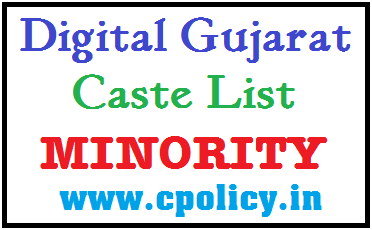 CASTE LIST FOR MINORITY CATEGORY IN PDF DOWNLOAD