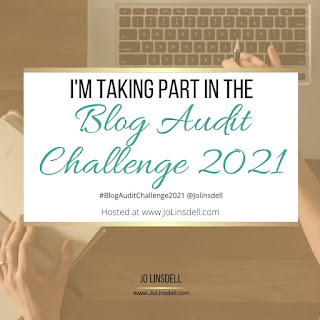 I'm taking part in the Blog Audit Challenge 2021