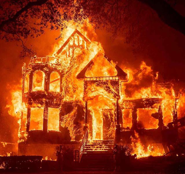Incêndios não pouparam casas grandes ou pequenas