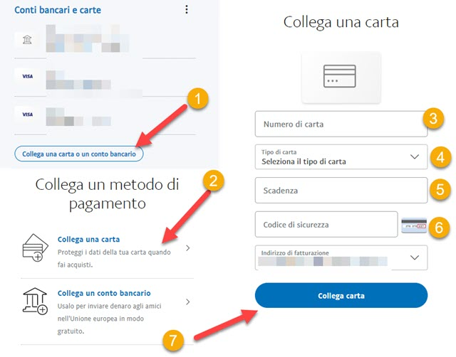 collegare carta postepay a paypal