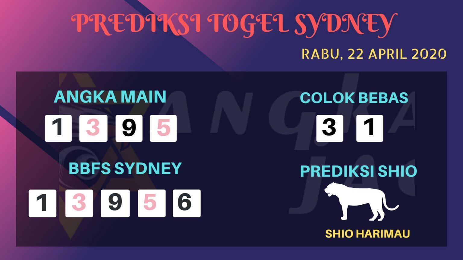 Prediksi Sydney 22 April 2020 - Prediksi Angka Sidney