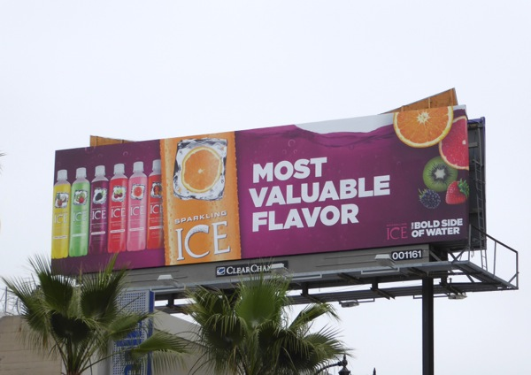 Sparkling Ice Most valuable flavor billboard