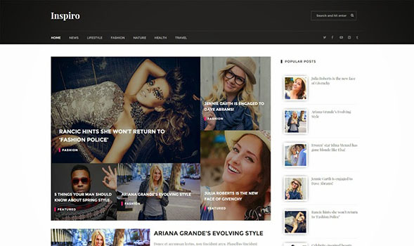 İnsiro Moda Blogger Teması
