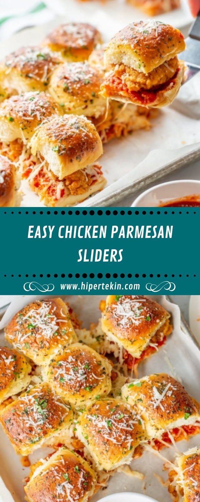 EASY CHICKEN PARMESAN SLIDERS