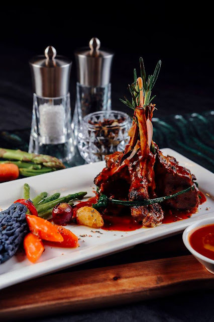 Roasted Crown Lamb Rack by Chef Jamal from Berjaya Waterfront Hotel, Johor Bahru,Malaysia in 'Flavours of Berjaya'