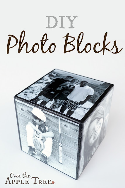 DIY Photo Blocks, Over The Apple Tree