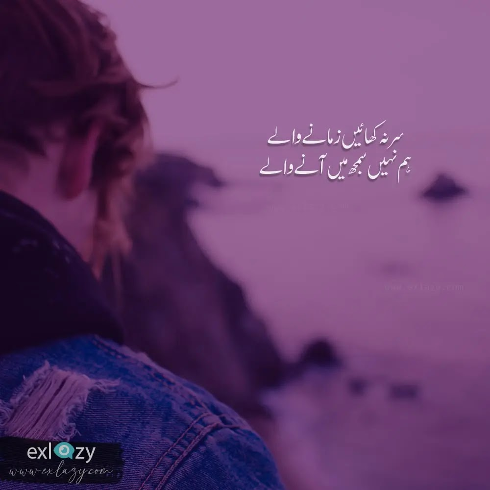 2 line poetry in urdu about attitude