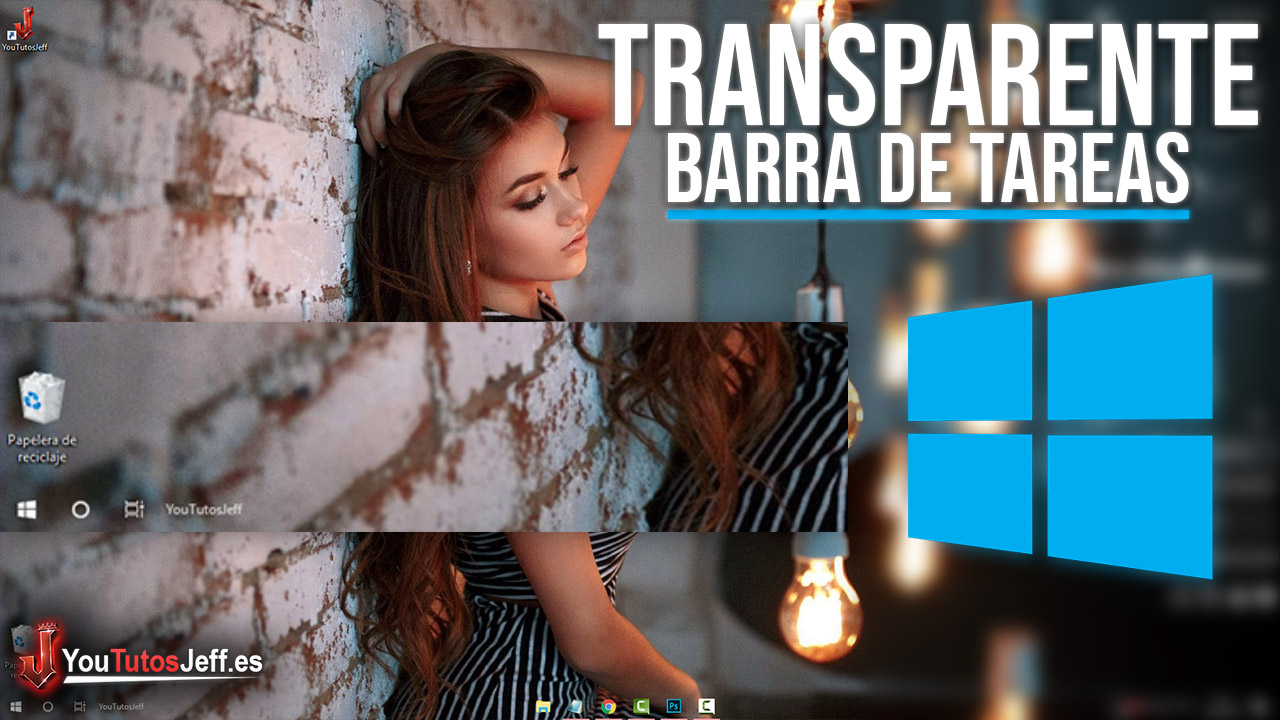 Barra de Tareas Transparente en Windows 10 - Descargar TranslucentTB