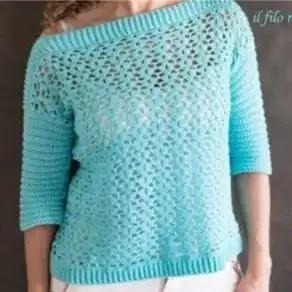 Blusa Tweedia a Crochet