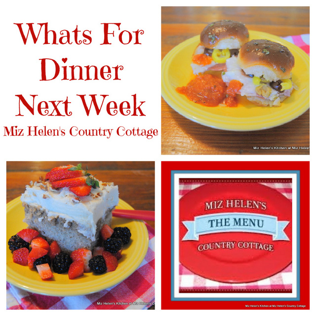 Whats For Dinner Next Week * Week of 9-26-21