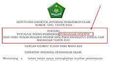 Juknis Tunjangan Insentif Guru Madrasah tahun 2021