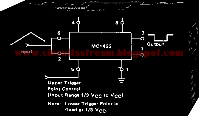 Simple Schmitt trigger III Circuit Diagram