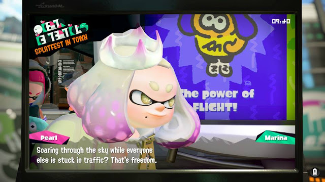 Splatoon 2 Splatfest Team Flight that's freedom Pearl close-up