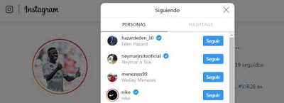 Vinicius sigue a Hazard en Instagram