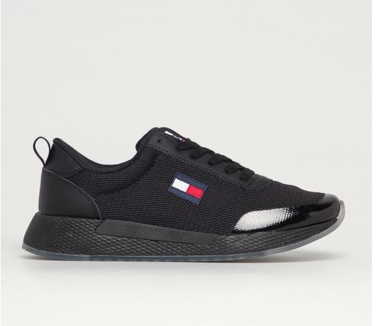 Tommy Jeans pantofi sport de dama negri din material textil