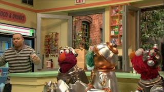 Chris, Rosita, Telly, Elmo, Sesame Street Episode 4406 Help O Bots, Help-O-Bots season 44