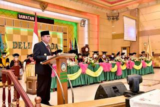Hadiri Wisuda Institut Kesehatan Deli Husada, Gubernur Sumut Ingatkan Wisudawan untuk Tidak Berhenti Menuntut Ilmu