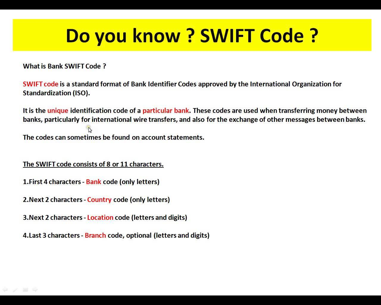 Bank Code And Branch Code