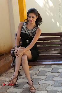 Actress Poojitha Pallavi Naidu Stills in Black Short Dress at Inkenti Nuvve Cheppu Movie Platinum Disc Function  0223.JPG