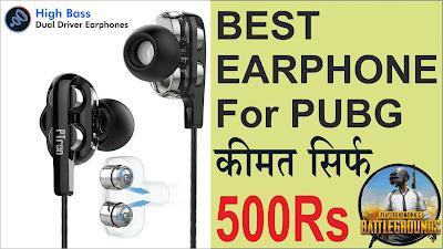 Best Earphone for pubg under 500