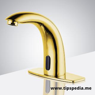 gold tone bathroom faucets