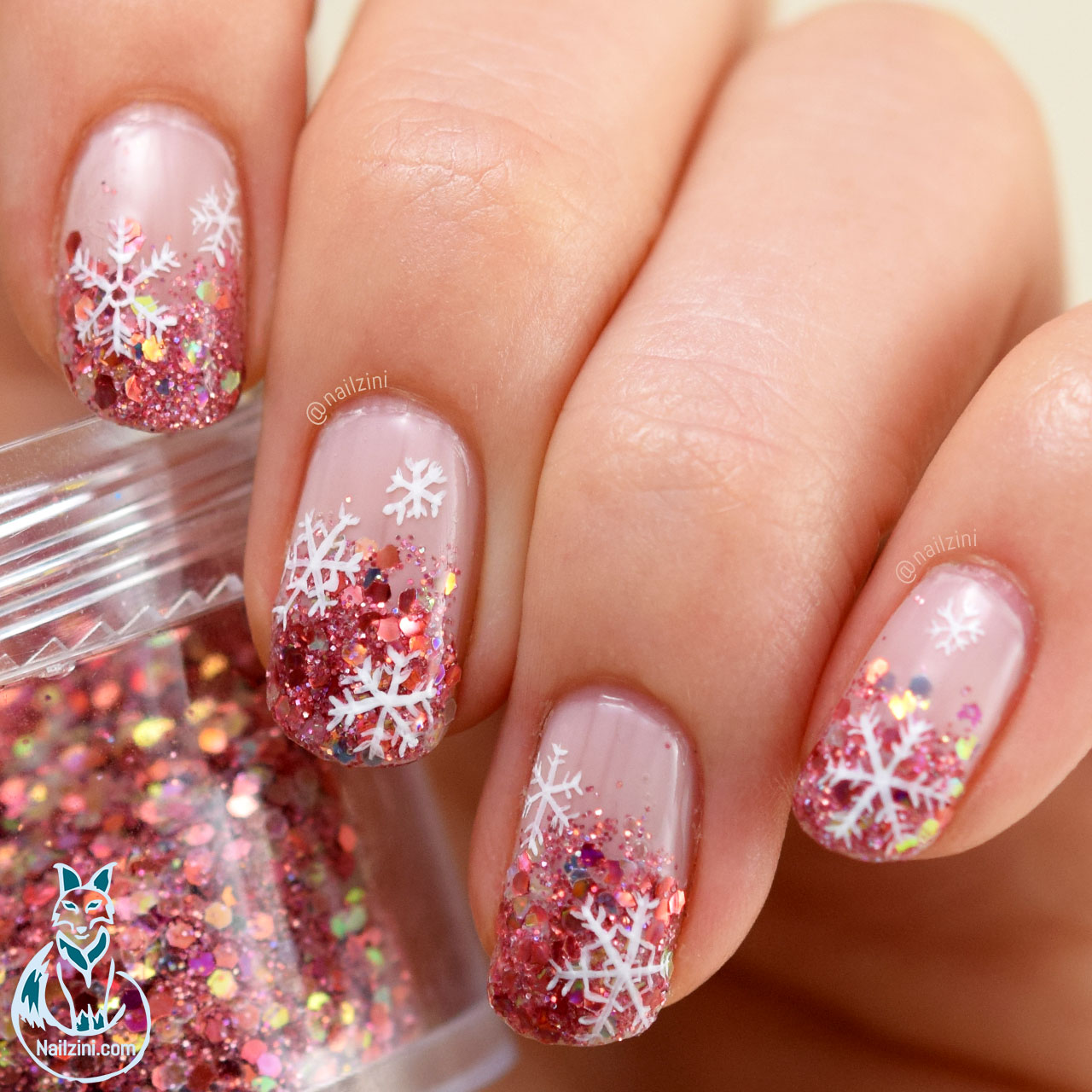 Glitter Gradient Snowflake Nail Art Born Pretty Review