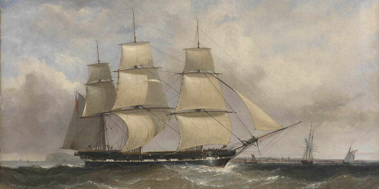 Convict ship setting sail for Australia