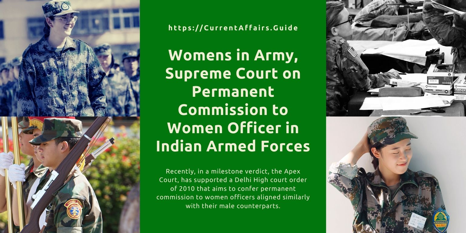 Womens in Army, Supreme Court on Permanent Commission to Women Officer in Indian Armed Forces
