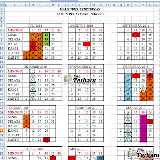Download kalender pendidikan (KALDIK) tahun pelajaran 2016/2017 Gratis