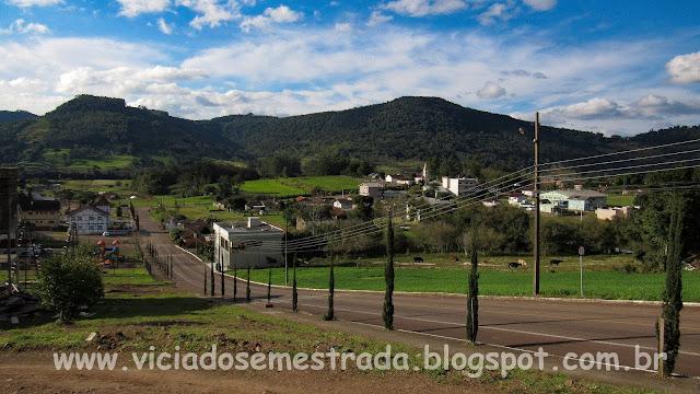 Bela vista da cidade de Forquetinha, RS