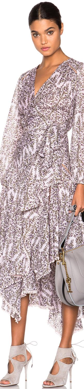 Zimmermann Henna Paneled Wrap Dress
