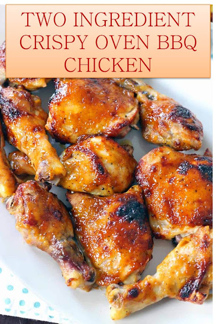 TWO INGREDIENT CRISPY OVEN BBQ CHICKEN #TWO #INGREDIENT #CRISPY #OVEN #BBQ #CHICKEN #TWOINGREDIENTCRISPYOVENBBQCHICKEN