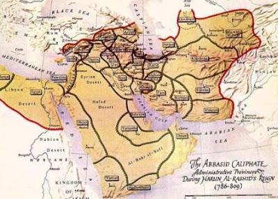 peta wilayah kekuasaan bani Abbasiyah
