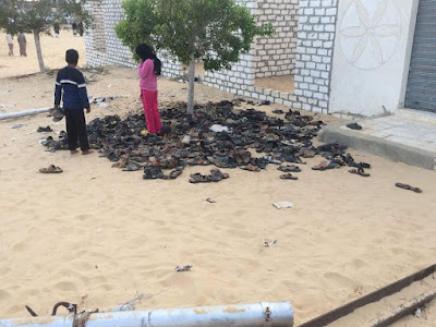 Outside Al-Rawda Mosque