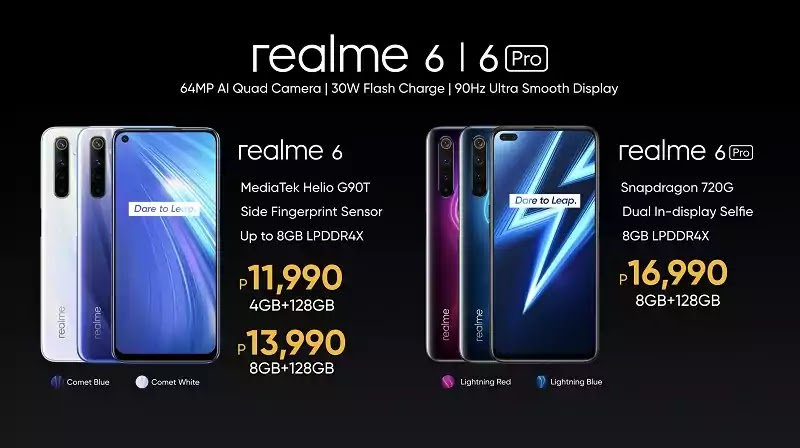 Realme 6 and Realme 6 Pro PH Prices