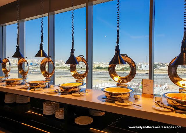 breakfast buffet in Premier Inn Dubai Dragon Mart
