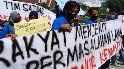 Mahasiswa Geruduk Kantor Gubernur Riau, Tuntut 1,2 Juta Hektar Bermasalah Segera Selesaikan