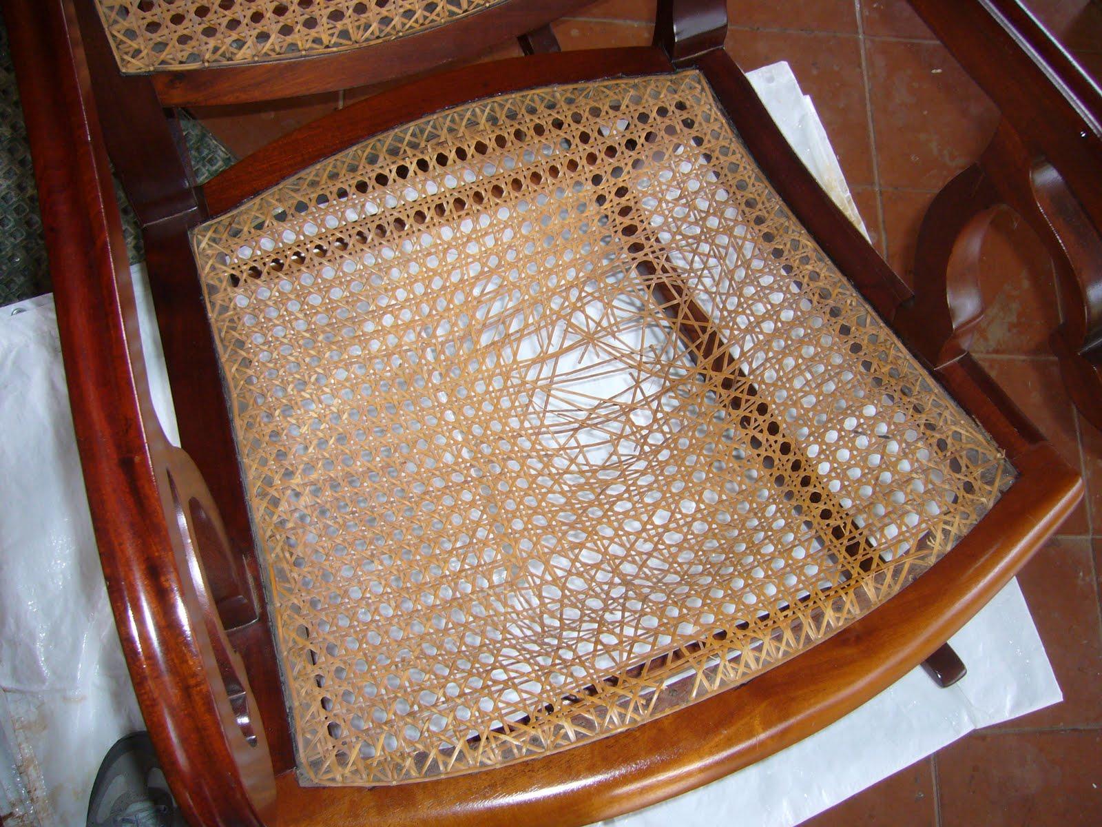Restauraci N Del Asiento De Rejilla De Una Mecedora Cubana La  # Muebles Rejilla