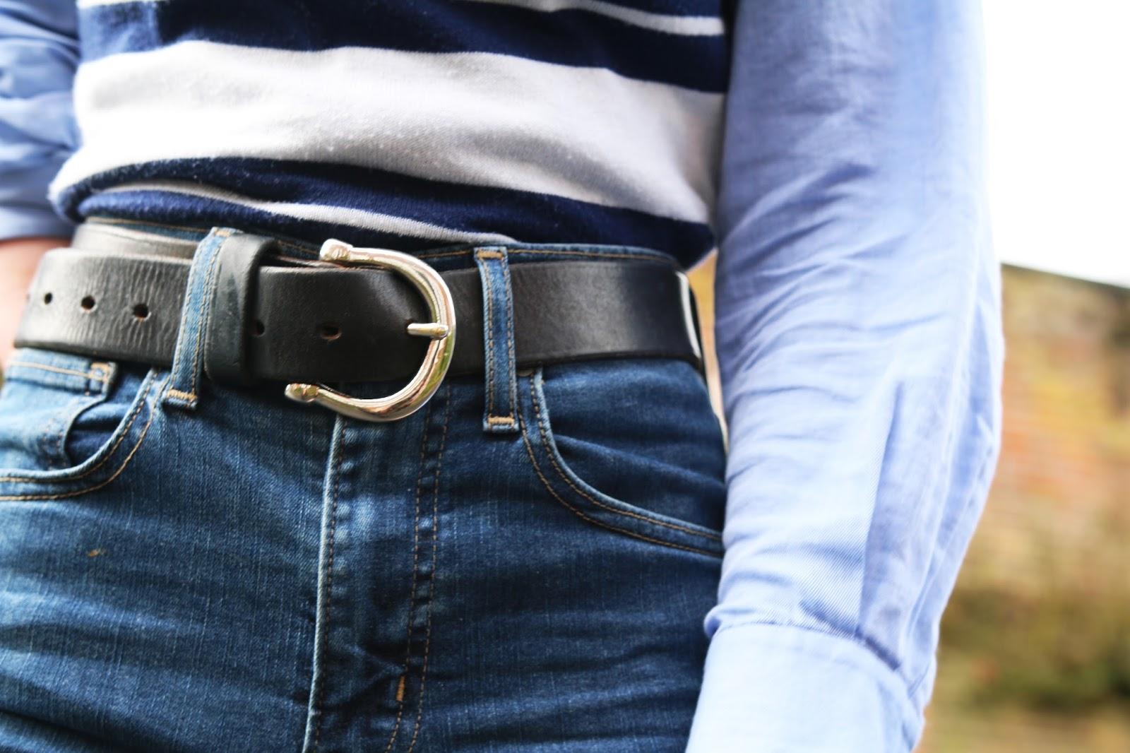 metal black belt, leather bely, leather black belt, levis skinny high rising jeans