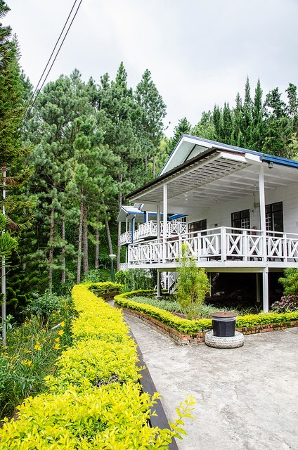 The garden in the resort is very well maintained
