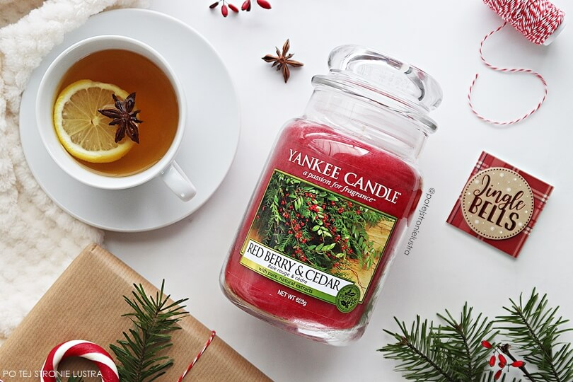 yankee candle red berry & cedar recenzja blog