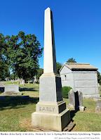 Marker, John Early (1786-1873), Section E, Lot 1; Spring Hill Cemetery, Lynchburg, Virginia. 2017 photo by Kipp Teague, retrieved 2021 from flickr.