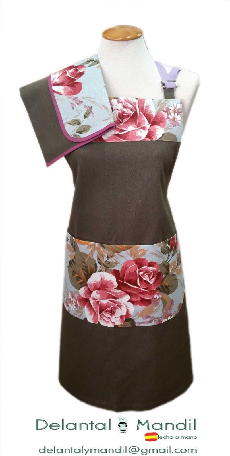 5ef943a5325 Delantal con motivos florales